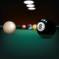 a billiards table at a recreation facility