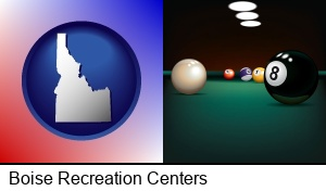 Boise, Idaho - a billiards table at a recreation facility
